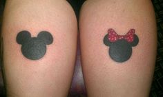 Mickey and Minnie Heads to fix my back tattoo Mickey And Minnie Tattoos, Mickey Head, Mickey Minnie Mouse, Disney Couple Tattoos, Disney Tattoos, Pretty Tattoos, Love Tattoos, Head Tattoos, Tatoos