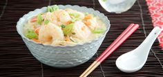 Sometimes you want a one-bowl meal that is deeply comforting but won't weigh you down. This Thai-inspired recipe delivers on both counts. The shrimp are gently Pork Rib Recipes, Meat Recipes, Seafood Recipes, Chicken Recipes, Lamb Recipes, Banting Recipes, Chili Recipes, Brownie Recipes, Healthy Coconut Shrimp