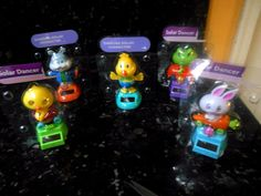 Solar Powered Dancing Easter Friends - Lot of 5 - FREE GIFT!!!  NIP!