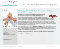 Wir begrüßen Nobel Biocare im Munich Implant Study Club (M.I.S.C.®) als Förderer von Fortbildungen in der digitalen, zahnärztlichen Implantologie für innovative Implantatkonzepte!