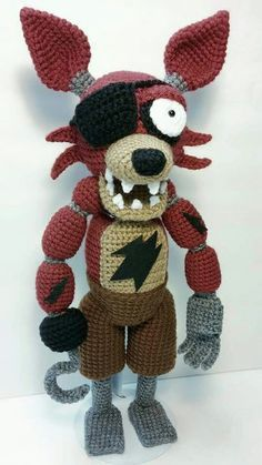 Amigurumi Pirate Foxy from Five Nights At Freddy's. I made him for my daughter's Birthday :)