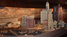 """Chicago, Vermont & Texas"" a custom layout by Dunham Studios.  This is the Chicago scene."