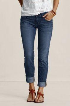 The Women's Slim Leg Jeans from Lands' End Canvas - Have 'em and love 'em! take me everywhere- #landsendcanvas