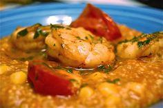 marcus samuelsson's red grits + shrimp.