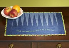 Recycled Jeans Placemat -free tutorial at Amazing Designs blog