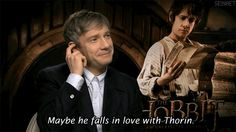Fanart The Hobbit - Oh Martin... if you knew what this sentence means to us, Thilbo fans.... too bad it's just a joke and there's no chance for it to happen :(