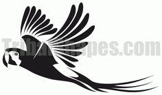 """Parrot 2"" tattoo design"