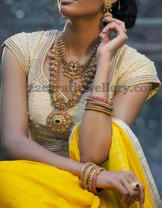 Jewellery Designs: Mango Mala with Burmese Rubies