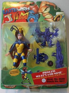 "(TAS021289) - Playmates Earthworm Jim ""Princess What's Her Name"" Figure"