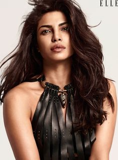 Priyanka Chopra stuns in leather Valentino dress