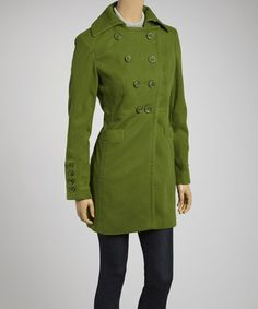 Green Peacoat by Pink Martini Collection on #zulily #ad *love the green
