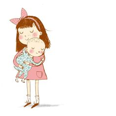 Image result for older sister and baby sister clipart