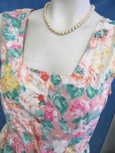 shopgoodwill.com: Sun Dress in Flowers for Summer Time