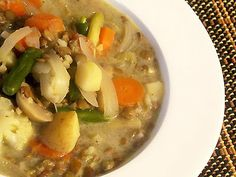 Thai Green Curry Lentil and Vegetable Soup | Lisas Kitchen | Vegetarian Recipes | Cooking Hints | Food & Nutrition Articles