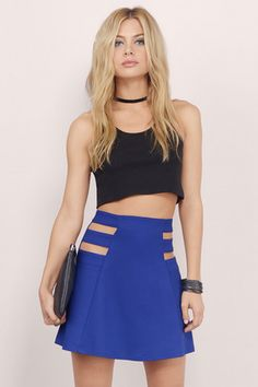 See You There A-Line Skirt