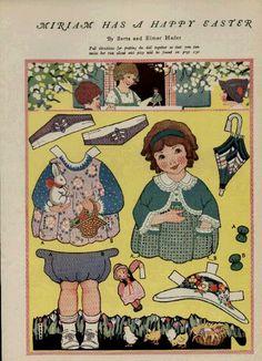 berta and elmer hader paper dolls Newspaper Paper, Old Paper, Paper Art, Paper Crafts, Vintage Playmates, Paper Dolls Clothing, Bobe, Vintage Paper Dolls, Retro Toys