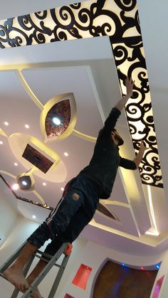 Pin on Ceiling design Pin on Ceiling design Gypsum Ceiling Design, House Ceiling Design, Ceiling Design Living Room, Bedroom False Ceiling Design, False Ceiling Living Room, Home Ceiling, Living Room Designs, False Ceiling Ideas, Pop Design