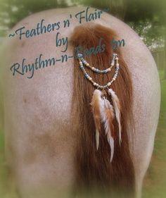 Feathers n' Flair Mane & Tail Bling by rhythm-n-beads.com www.facebook.com/rhythmbeads