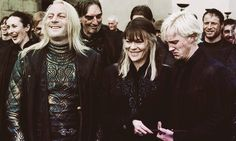 """One of my favourite pictures of Malfoy family. It represents them just as i imagine them; always happy and together. Harry Potter Characters, Harry Potter World, Harry Potter Memes, Hogwarts, Slytherin, Harry Potter Narcissa, Hp Movies, Draco Malfoy Aesthetic, Jason Isaacs"