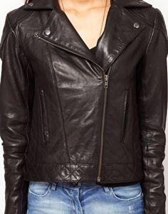 "ASOS Leather Biker Jacket    S1 E7 ""Night School"""