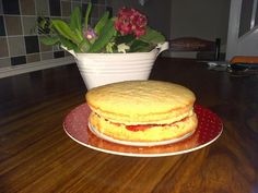 WEEK 3: @4GlutenFreeFood #GFMBO #Glutenfree Wheat free Victoria Sponge cake - by Lisa Mc