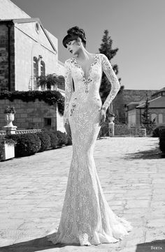 Berta #bridal summer edition 2014 collection: long sleeve #wedding dress.