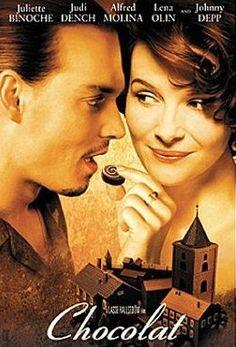 Chocolat. Juliette Binoche and Jonnie Depp.