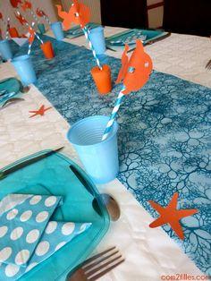 une d coration de table sur le th me de n mo pinterest deco table anniversaire enfant et. Black Bedroom Furniture Sets. Home Design Ideas