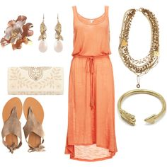 """Peach"" by paige-cary on Polyvore"