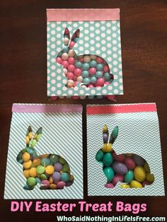 DIY-Easter-Treat-Bags with the Silhouette
