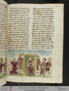 Cod. Pal. germ. 60: Historienbibel ; Irmhart Öser ; 'Brandans Reise' u.a. (Südwestdeutschland, um 1460), Fol 58r