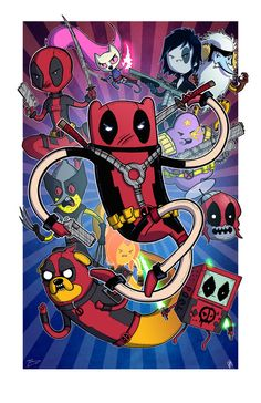 adventure time deadpool mashup Cool Adventure Time Mashups by Mike Vasquez and Joe Hogan