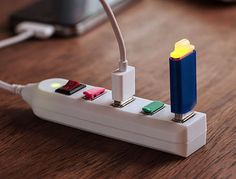 Portable USB Power Strip - Simply plug it in and it looks and acts like a regular power strip, including a handy on/off button. The hub includes 4 high-speed ports...