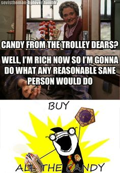 BUY ALL THE CANDY! Harry Potter Puns, Harry Potter Universal, Harry Potter World, Harry Potter Anime, Yer A Wizard Harry, Harry Potter Pictures, Mischief Managed, Found Out, Fantastic Beasts