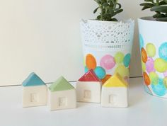 Cute and tiny Clay Houses!!!
