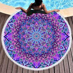 Home Decor Clocks Confident Beach Towels Round Microfiber Flamingo Summer Large Bath Mat Serviette Swimsuit Wrap Skirt Shawl Travel Tablecloth 150x150cm