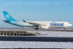 Photo taken at Paris - Charles de Gaulle (Roissy) (CDG / LFPG) in France on February Air Transat, Airline Logo, Commercial Aircraft, Bus, Photo Search, Airplanes, Paris France, Trains, Angels