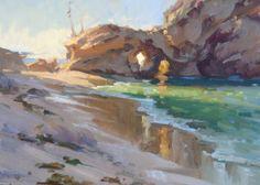 """Three Arch Bay, morning"" 11x14 by Jose de Juan"