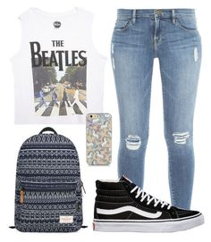 """""""Look Hannah School 2"""" by juh-styles-334 on Polyvore featuring beleza, Frame Denim, Wet Seal, Mr.ace Homme e Vans"""