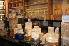 Cheese shop in London Cheese Shop, Shop Around, Queso, England, Foods, London, Canning, Shopping, Tents