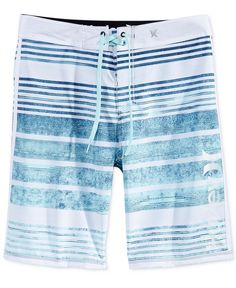 Dive into superior surf style and comfort with these Hightide stripe boardshorts from Hurley, featuring lightweight Phantom stretch fabric and a water-repellent finish to keep you moving fast and free Surf Shorts, Mens Swim Shorts, Men's Shorts, Kids Bathing Suits, Boxer Pants, Boys Swimwear, Swimsuits, Mens Boardshorts, Surf Style