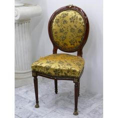 Medaillon empire mahonie yellow satijn exclusieve | Le Chique Wonen