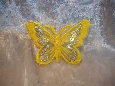 Schmetterling gelb 8 cm Aufnäher Aufbügler Patch Deko Neu GST 190746