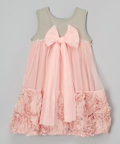 Love this Gray Floral Dress - Infant, Toddler & Girls by Blossom Couture on #zulily! #zulilyfinds
