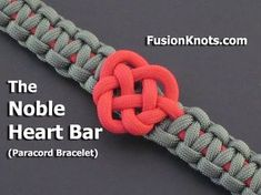 How to Make a Noble Heart Bar (Paracord) Bracelet by TIAT - YouTube