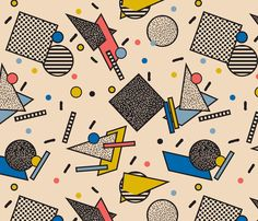 Memphis Inspired Pattern 7 fabric by season_of_victory on Spoonflower - custom fabric