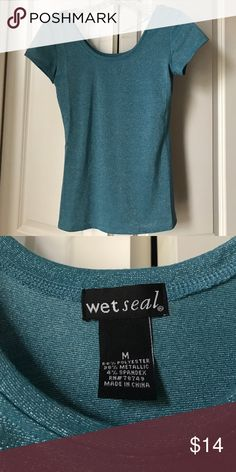 Blue sparkly top Blue and silver top Wet Seal Tops Blouses