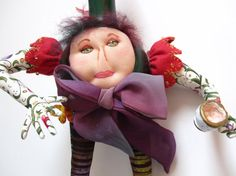 Lady Gourdington Penworthy  Gourd Doll by MountainDolls on Etsy, $35.00