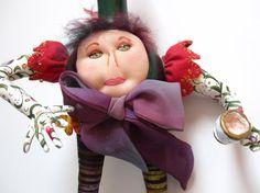 Lady Gourdington Penworthy  Gourd Doll by MountainDolls on Etsy, $35.00