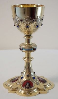 antique French Gothic Chalice